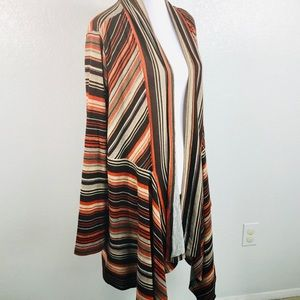One World Open Front Sweater Cardigan Plus Sz 3X